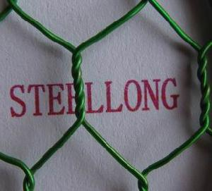 green pvc coated gal hex wire mesh