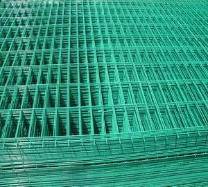 green pvc coated welded wire mesh sheets panels