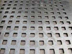 square hole perforated sheet metal