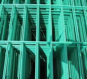 welded wire panels green coated