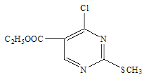 4 chloro 2 methylthio pyrimidne 5 carboxylat