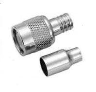 rf coaxial tnc straight male crimp lrm195 rg58 cable connectors
