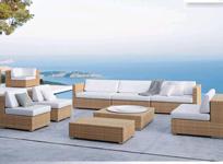 synthetic rattan sofa plastic wicker furniture