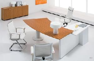 bieya executive desk zebra veneer metal leg powder coating