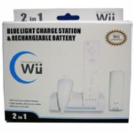 wii blue light charge station stand