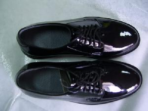 military police officer shoes mirror leather shinny