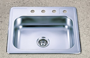 american topmount bowl sink