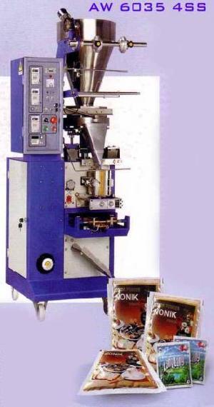 vertical packaging machine aw 6035 4ss 4 side seal powder seed granule