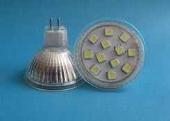 bombilla led mr16 12v foco reflector de luz gx5 3 smd
