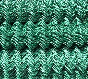 green plasctic coated chain link fabric mesh
