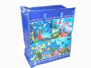 ocean woven shopping bag