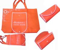 orange folded non woven tote bag