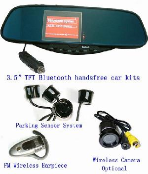 bluetooth stereo handsfree rear view mirror car kit camera bt 728sec4