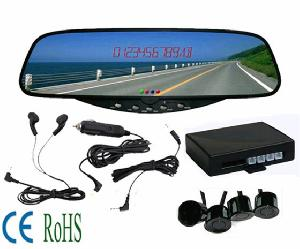 bluetooth stereo handsfree rear view mirror car kit parking sensor system