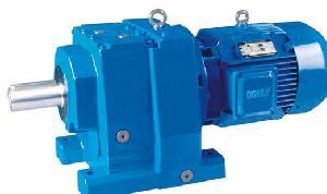 R Series Inline Coaxial Helical Gear Box With Motors Gearmotors Geared Motors