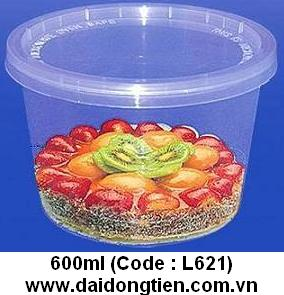 plastic food container 600ml round