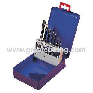 machine taps 7pcs din371 376 m3 m12 straight flute threading tools