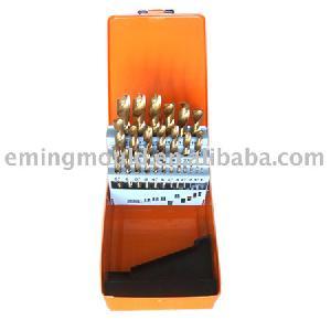 tin coated twist drill din338 metal box 25