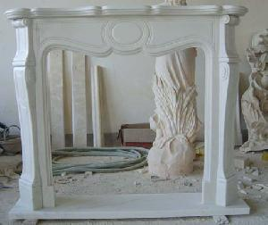 pictures wihte marble fireplace