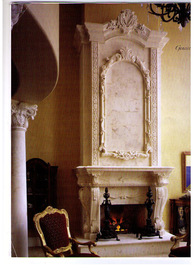 travetine beige fireplace pictures