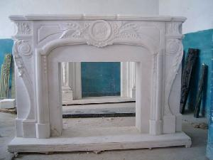 marble fireplace picture