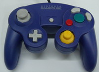 game cube joypad controller purple controllers