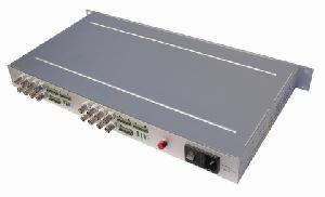 16 channel video audio alarm fiber optic transceiver