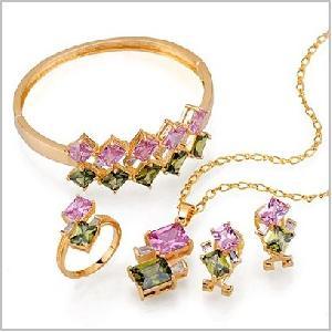 18k gold plating brass cz jewelry