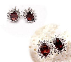 sterling silver garnet earring jewelry