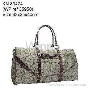 jacquard weave travel bag