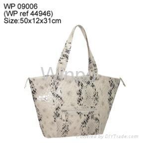 ladies croc pu fashion handbag