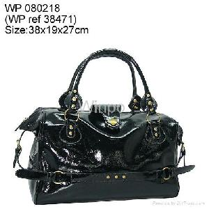patent pu handbag women