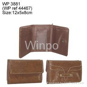 pvc leather fashion wallet
