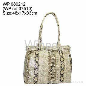 pvc snake fashion handbag