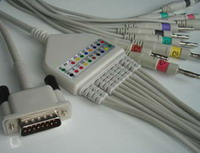m3703c ekg cable 12 leads hp 100 m1770 m1771 m1772