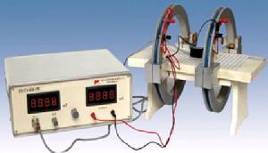 helmholtz coil magnetic field measuring apparatus