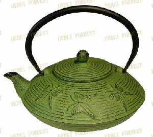 cast iron teapot hbf 034 butterfly