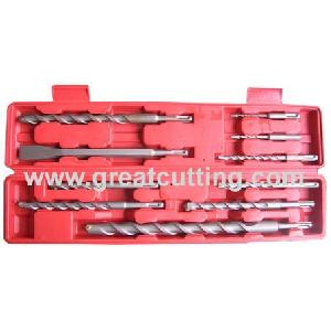 10 sds hammer drills chiesel plastic box
