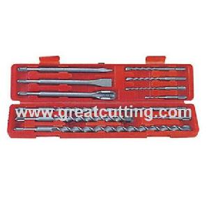 12 sds plus hammer drills chisel plastic box