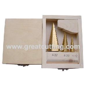 3 hss step drills wooden box