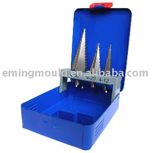 3pcs step drill metal box