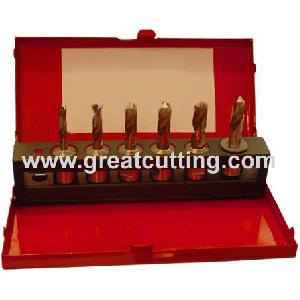 6 twist drills weldon shank metal box