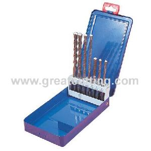 7 sds plus hammer drill bits metal box concrete drills masonry
