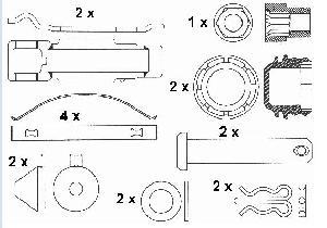 brake pads repair kits