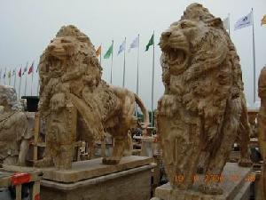 khaki marble lions