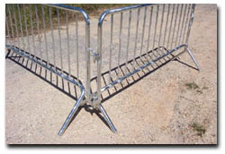 crowd control barricades pedestrian fencing dipped galvanized powder coating