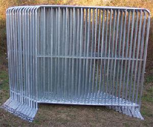 manufacturing dipped galvanized steel barricades
