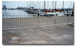 steel barricades traffic barriers security