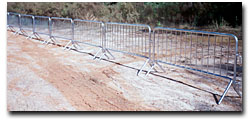 traffic barricades crowd control barrier dipped galvanized powder coating