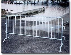 traffic barricades crowd control barrier dipped galvanized powder coating zinc plating